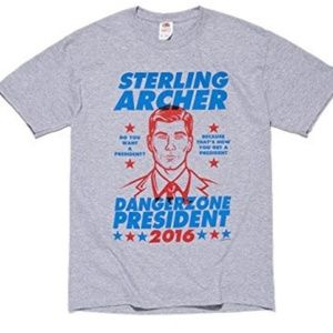 Archer Dangerzone President 2016 Gray Tee Shirt